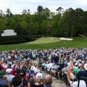 A view of the 11th hole of the Masters at Augusta National.