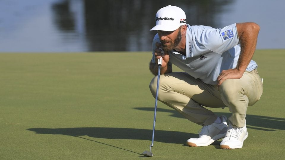 Dustin Johnson returned to an Anser-style TaylorMade blade.