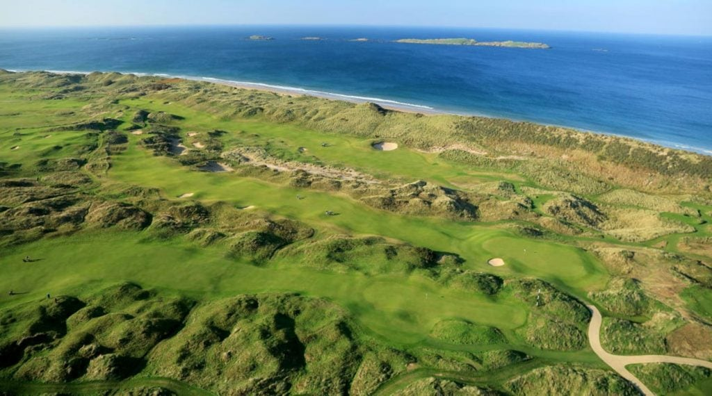 An aerial view of Valley Links golf course.