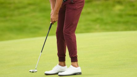 Antrim , United Kingdom - 19 July 2019; Erik Van Rooyen of South Africa putts on the 12th green during Day Two of the 148th Open Championship at Royal Portrush in Portrush, Co Antrim. (Photo By Ramsey Cardy/Sportsfile via Getty Images)