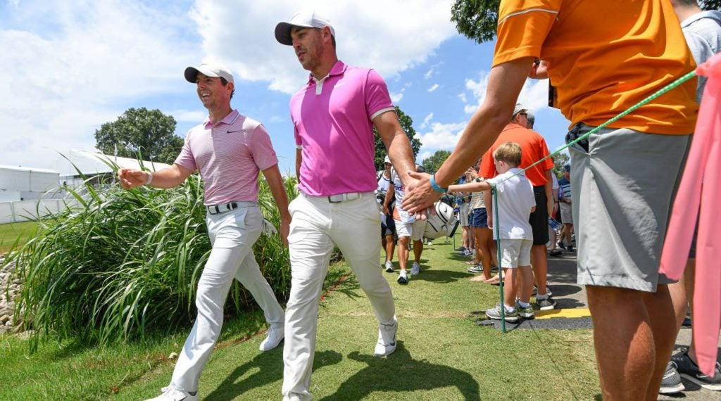 Brooks Koepka and Rory McIlroy will be front and center on Sunday.