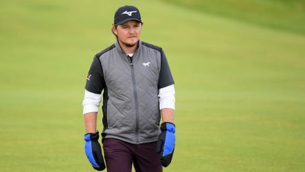 Eddie Pepperell at the 2019 Open Championship, where he's getting used to Royal Portrush on the fly.