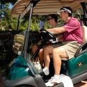 Golfers in cart