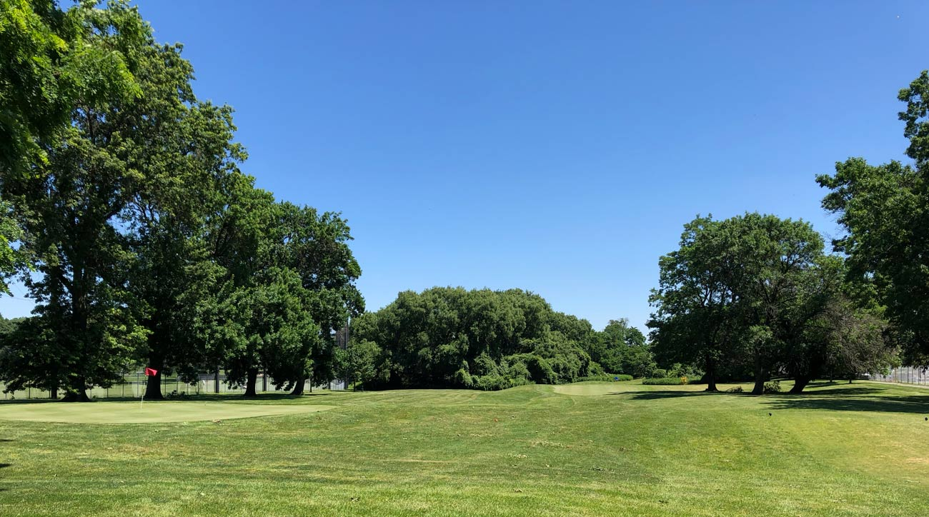 A view of the six-hole par-3 course at the Brooklyn junior golf center in Dyker Heights.