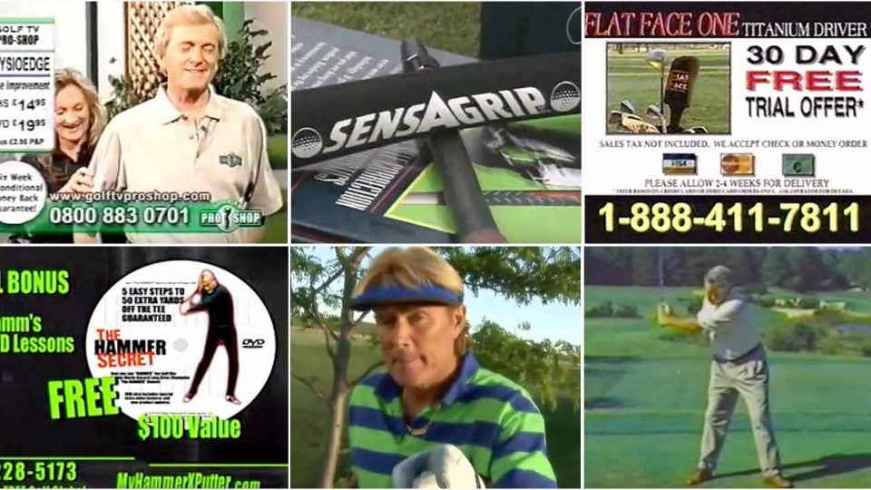 Golf infomercials form the 1990s