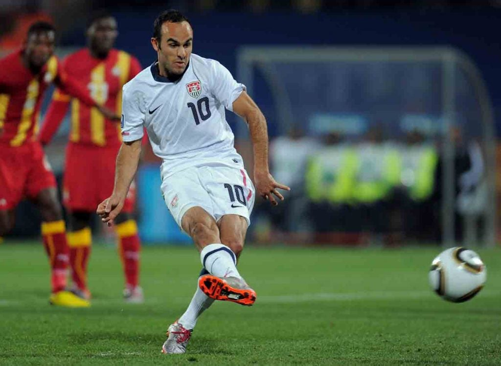Landon Donovan is a good bet from the penalty spot.