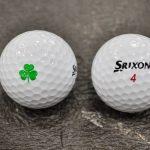 Shane Lowry's Srixon Z Star XV golf ball has a shamrock printed on the side.