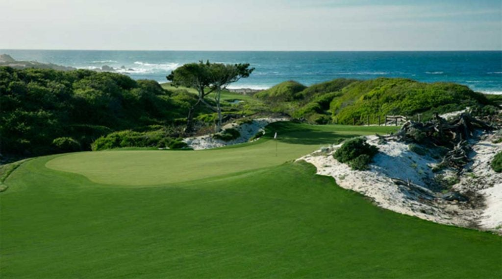 A look at the green on the 9th hole at the Dunes.