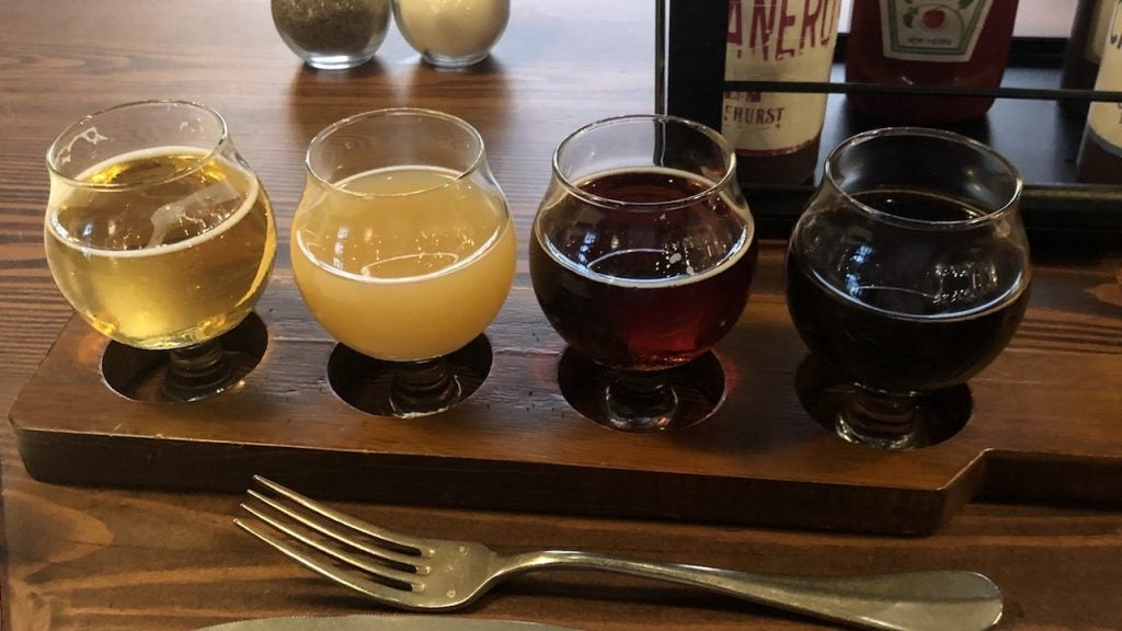 Opened in 2018, Pinehurst Brewing Company brews its own beer, offering some eclectic beers on draft.