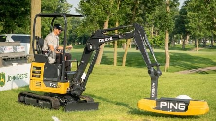 Ping collaborated with John Deere on a giant Anser putter.