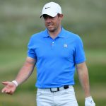 Rory McIlroy wore a Nike shirt with a washing-machine logo on the chest during Tuesday's practice round.