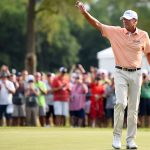 Steve Stricker and has used an Odyssey White Hot 2 putter for nearly two decade.