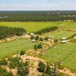 Grass tennis courts Sand Valley