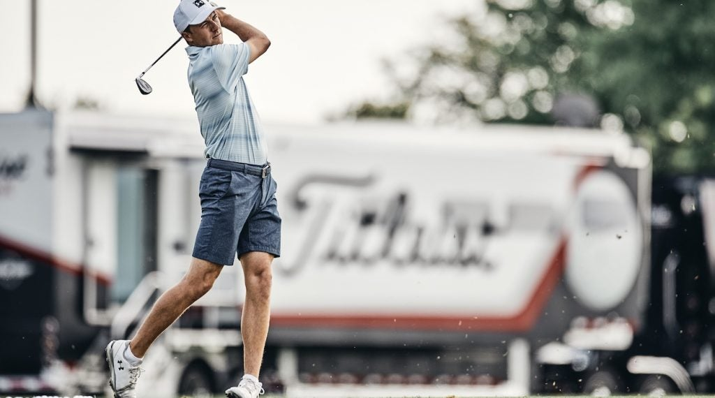 Jordan Spieth tested the final version of Titleist's T100 during the Memorial.