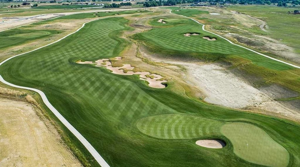 TPC Colorado is clocking in just shy of 8,000 yards, including the 773-yard 13th, pictured above.