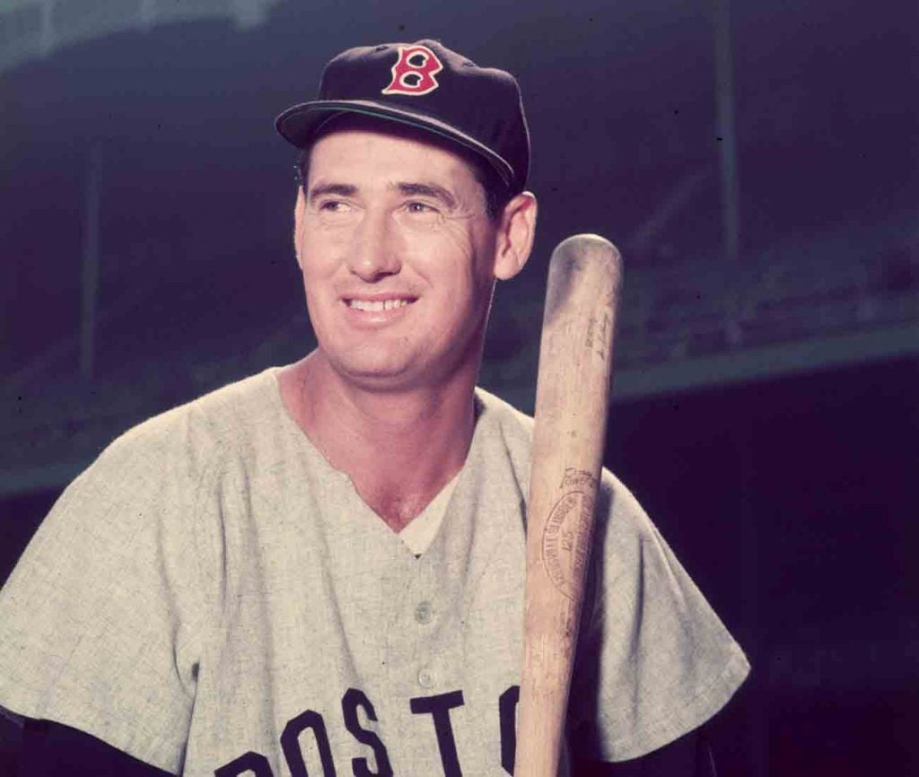 Ted Williams hit .406 in 1941 — the last baseball player to crack the .400 mark for a full season.