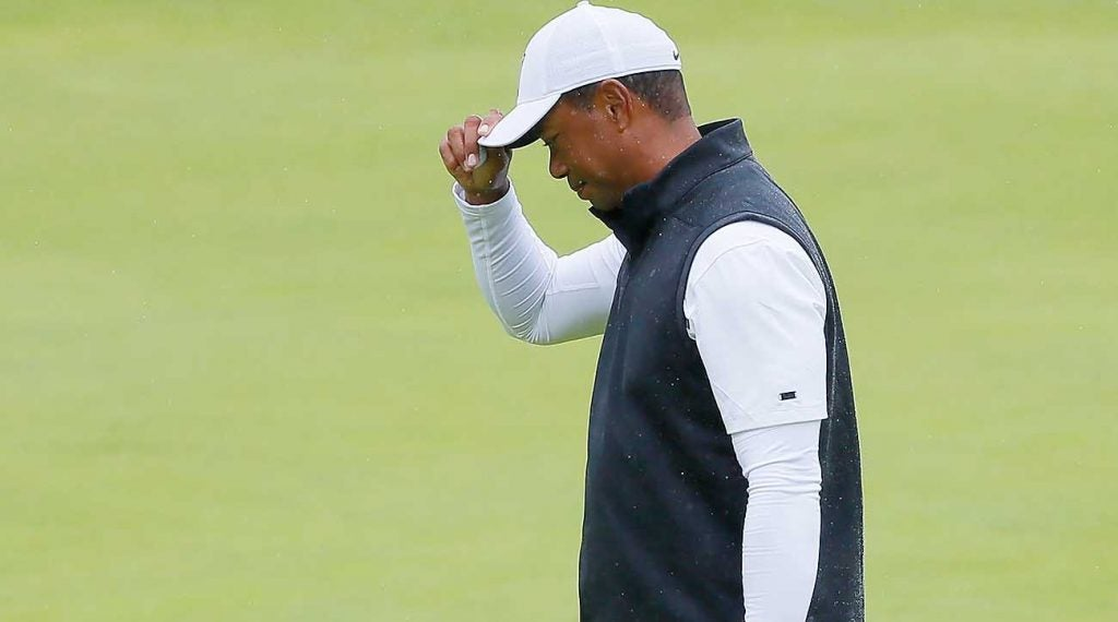 Tiger Woods, Round 2, 2019 British Open