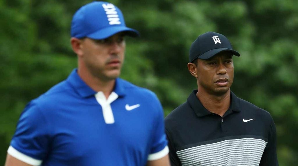 Tiger Woods said Brooks Koepka hasn't exactly reached out about playing a practice round at Portrush.