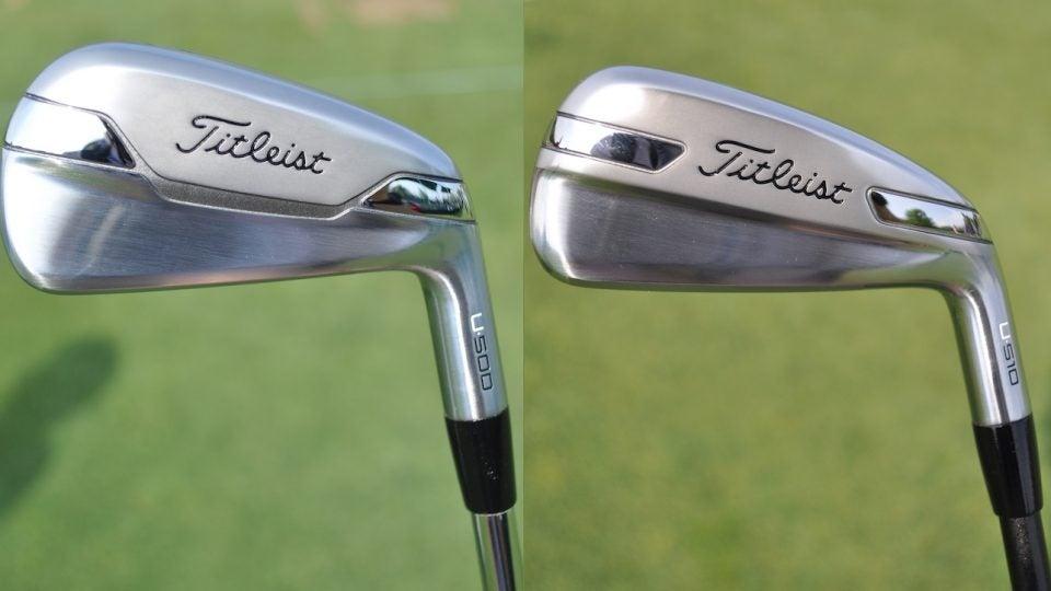 Titleist's U500 and U510 utility irons.