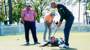 Golf: Tony Ruggerio working on the range with Lucas Glover Innisbrook/Tampa, FL, USA 3/7/2018 X161793 TK1 Credit: Bob Croslin