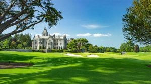 The 18th hole at Adare Manor in Ireland.