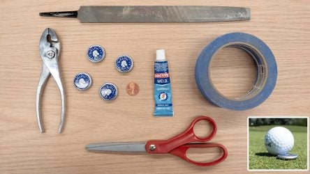 How to make your own customized bottle cap ball markers.