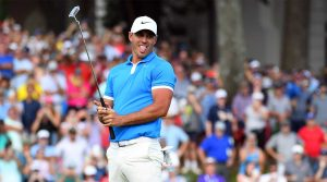 Brooks Koepka reacts to a putt during the final round of the WGC-FedEx St. Jude.