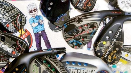 Callaway Customs originals surround Anthony Taranto's personal logo.