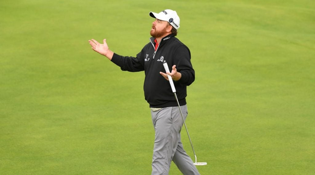J.B. Holmes pictured after completing the third round of the 2019 Open Championship.