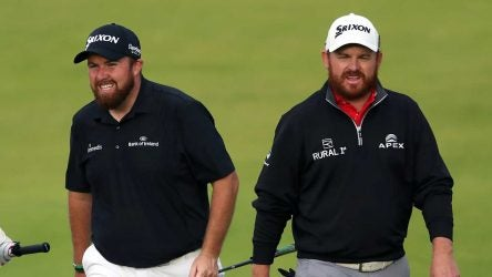 Shane Lowry and J.B. Holmes were in the final pairing on Saturday at the British Open.