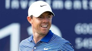Rory McIlroy looks on at the 2019 Scottish Open.