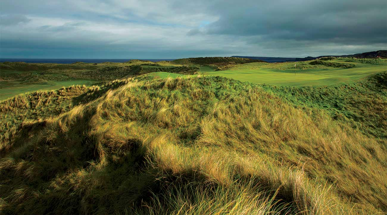 The 17th and 16th holes, which once were Dunluce's 15th and 14th.