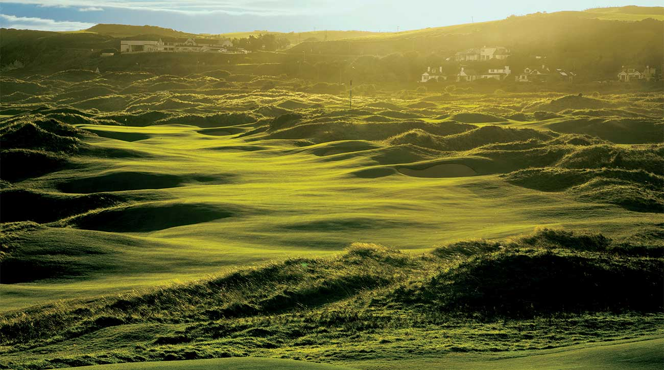 A majestic view of the par-4 eighth, the second of Dunluce's two new holes at Royal Portrush.