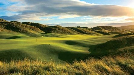 The 590-yard, par-5 seventh is new to Portrush's reconfigured Dunluce course. The hole was nicked from the nearby Valley Links, Dunluce's sister track.