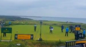Sergio garcia throws driver at caddie Open at Portrush