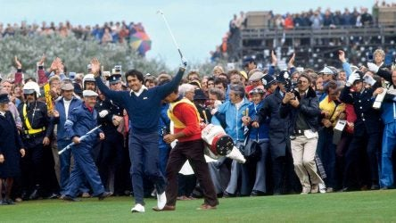On the 72nd hole of The Open at Lytham & St. Annes, Ballesteros strode the fairway, knowing he had the win—and the worshipful crowd—in hand.