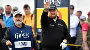 Shane Lowry's caddie at Open 2019