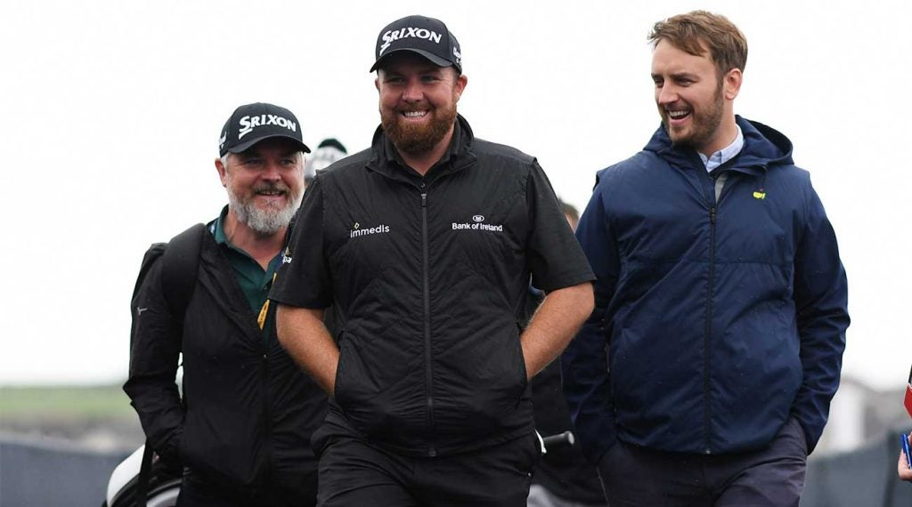 Shane Lowry arrives to Royal Portrush on Sunday of the 2019 British Open.