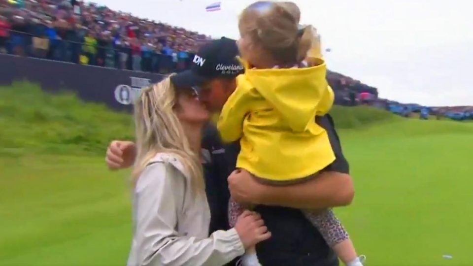 Shane Lowry and wife after 2019 British Open win