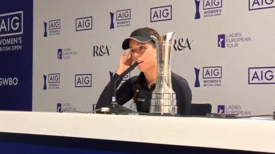 Women's British Open champion Georgia Hall