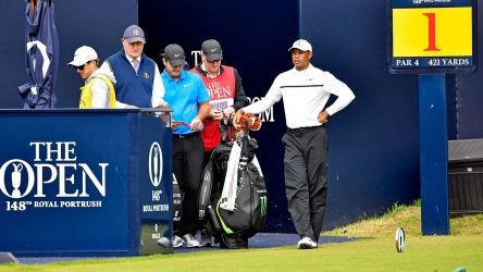 Tiger Woods at the 2019 British Open on Friday.