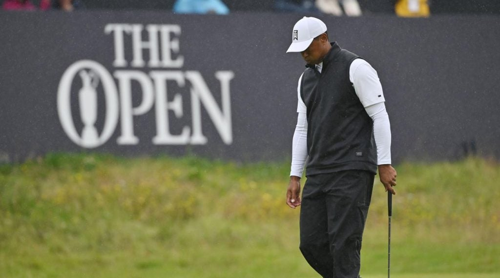 Tiger Woods missed the cut at the 2019 Open Championship at Royal Portrush.