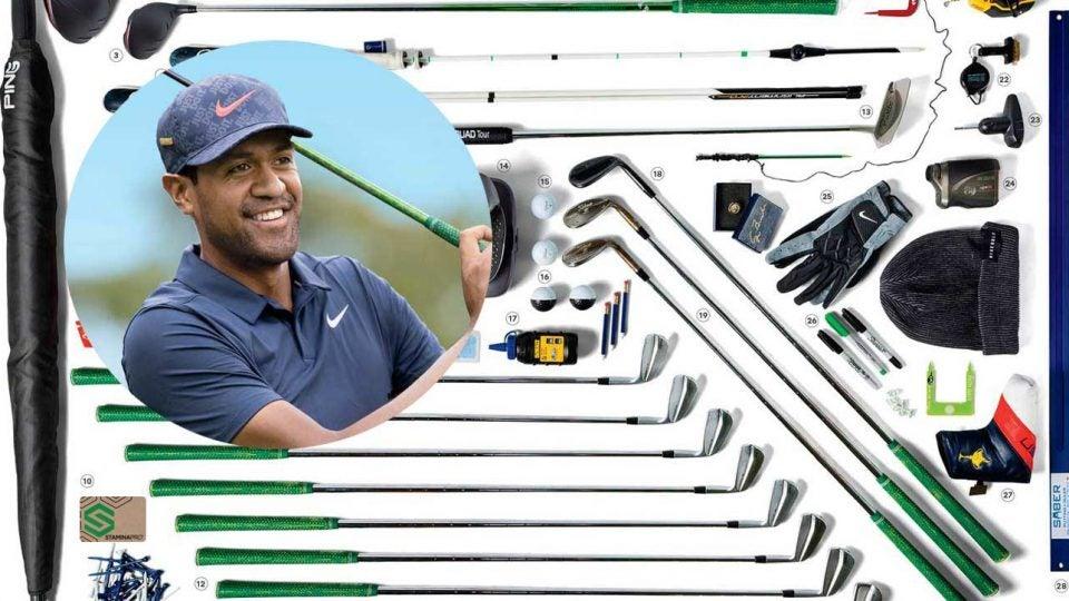 Tony Finau's golf bag