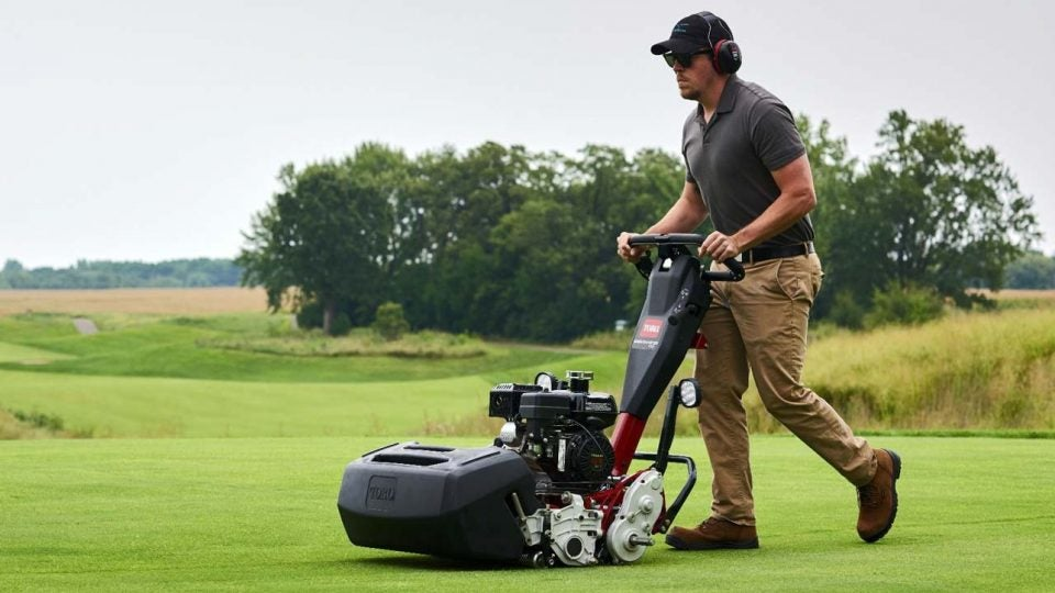 Toro Greensmaster mower.