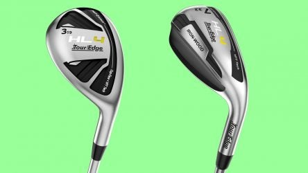 Tour Edge HL4 hybrid and iron-wood.