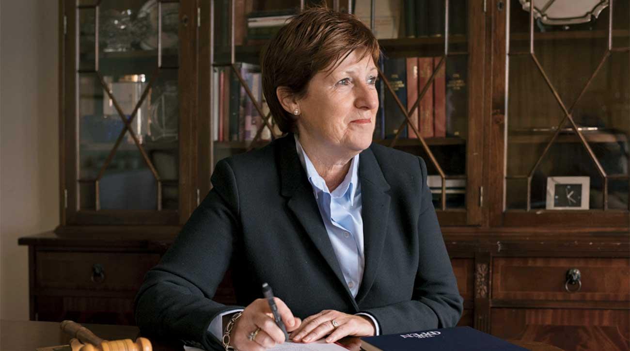Wilma Erskine, the club secretary at Royal Portrush.