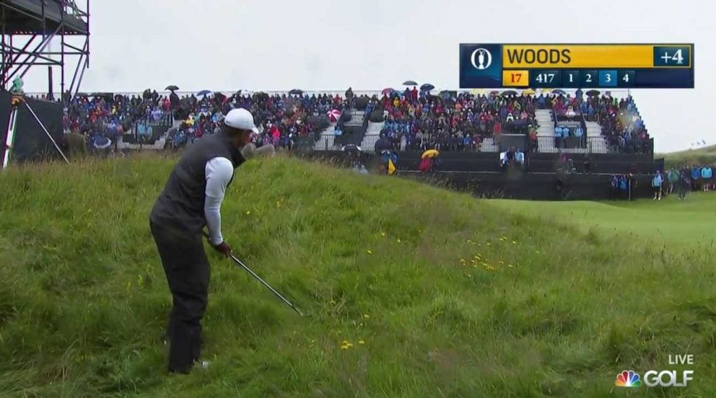 This was not the position Woods needed to be in if he wanted to rally to make the cut.