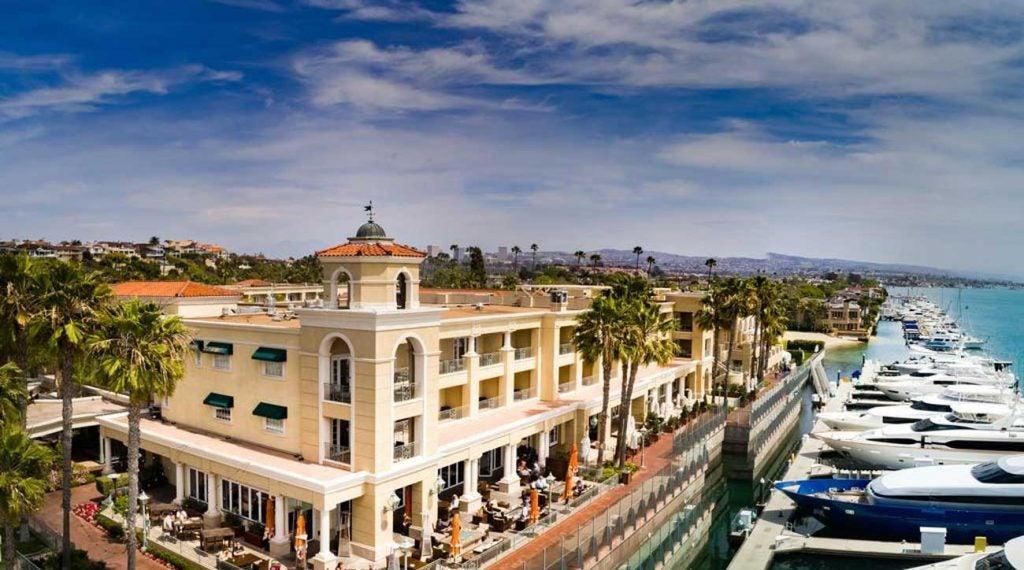 A view of the beautiful Balboa Bay Resort.