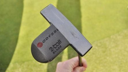 Tommy Fleetwood's Odyssey DFX 2-Ball Blade was a gift from his caddie.