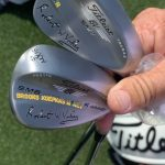 "Justin Thomas has ""Brooks Koepka's Money"" stamped on his Titleist Vokey SM6 lob wedge."